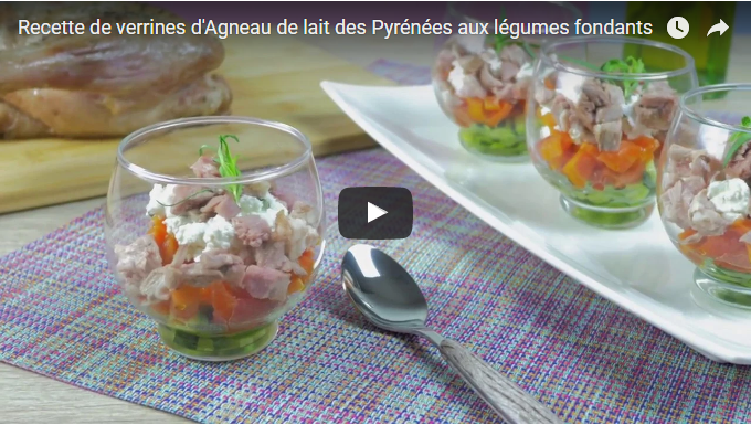 L'Agneau de Lait des Pyrénées a réalisé sa première vidéo de recette