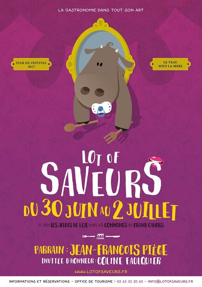 Du 30 juin au 2 juillet le VEAU SOUS LA MERE LABEL ROUGE N° 03/81 sera le produit mis à l'honneur lors du festival LOT OF SAVEURS à Cahors (46).